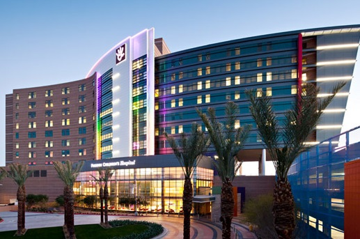 The exterior of Phoenix Children's Hospital in Arizona