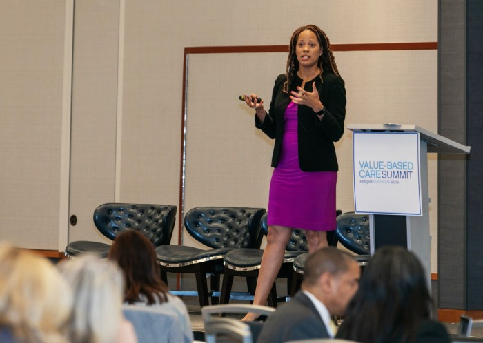 Dr. Alisahah Cole presents at the Value-Based Care Summit