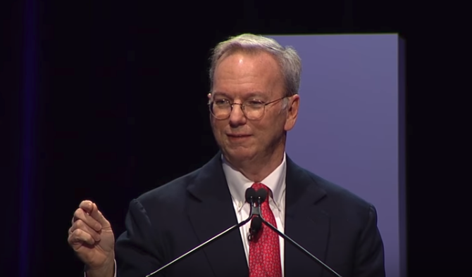 Eric Schmidt opening HIMSS18 with a keynote on artificial intelligence