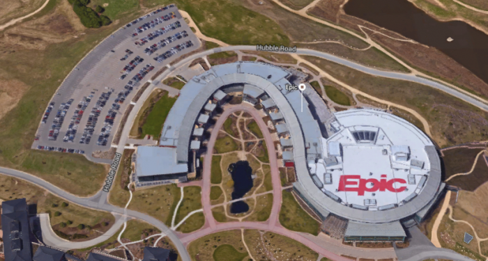Epic Systems' sprawling campus in Verona, Wisconsin